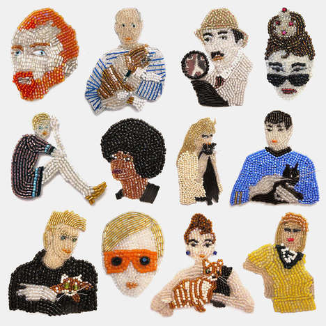 Celebrity Pin Accessories - Marianne Batlle's Delicate Pins Pay Homage to Pop Culture Icons