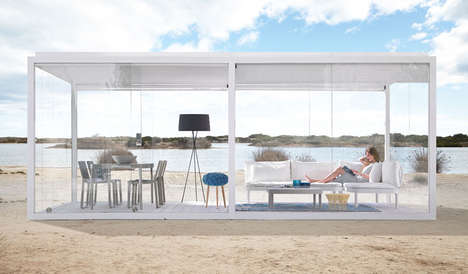 Outdoor-Enjoying Sanctuaries - Cristal Box for GANDIABLASCO Lets People Enjoy the Day in Comfort