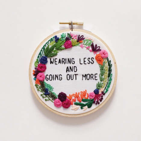 Hip-Hop Embroidery Art - Etsy's YesStitchYes Celebrates Famous Lyrics With Traditional Decor