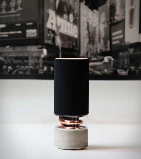 Illuminating Bulbous Speakers - The Pavilion Speakers Provides High Audio from a Lightbulb Design