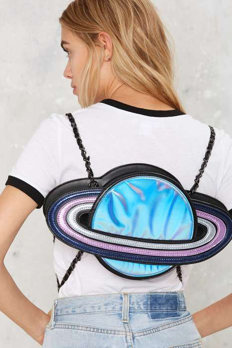Planetary Backpack Accessories - This Nila Anthony Backpack is Inspired by the Cosmos