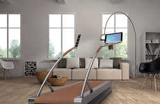 Freestyle Running Machines - The 'FleXSpace' Treadmill Machine Features an Open Concept Design