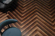 Gradient Wood Flooring Designs