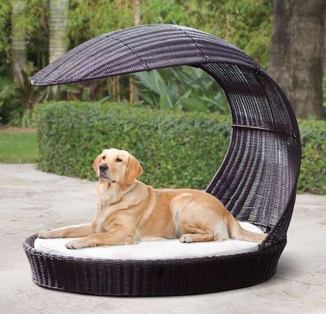 Luxury Outdoor Canine Furniture - The Pergola Dog Lounge Offers Pets a Shady Spot to Relax Outdoors