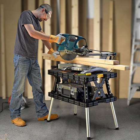 Adjustable Folding Workstations - The Keter Folding Work Table Provides a Bevy of Different Uses