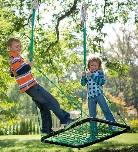 Share-Encouraging Swings - This Deluxe Platform Swing is Designed to Hold Two Swingers at Once