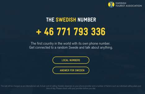 Scandinavian Tourism Hotlines - The Swedish Number Connects Callers to Swedes for Open Conversation