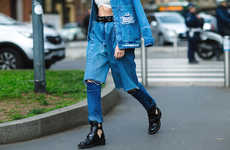 Layered Denim Trousers - Demi-Denims by Ksenia Schnaider Introduce a New Denim Combo