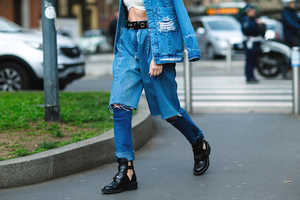 Demi-Denims by Ksenia Schnaider Introduce a New Denim Combo