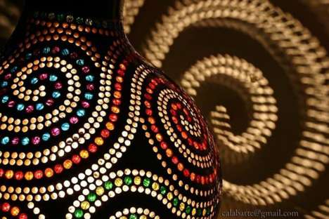 Pattern-Projecting Lamps - These Incredible Patterned Lamps Leave Gorgeous Designs on Walls