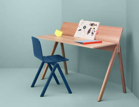 Productivity-Focused Desks - The 'Copenhague' Molded Plywood Desk Provides Space for Everything