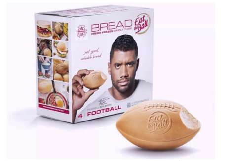 Football-Shaped Breads - The 'Eat the Ball' Line Features Ball-Shaped Loaves of Bread