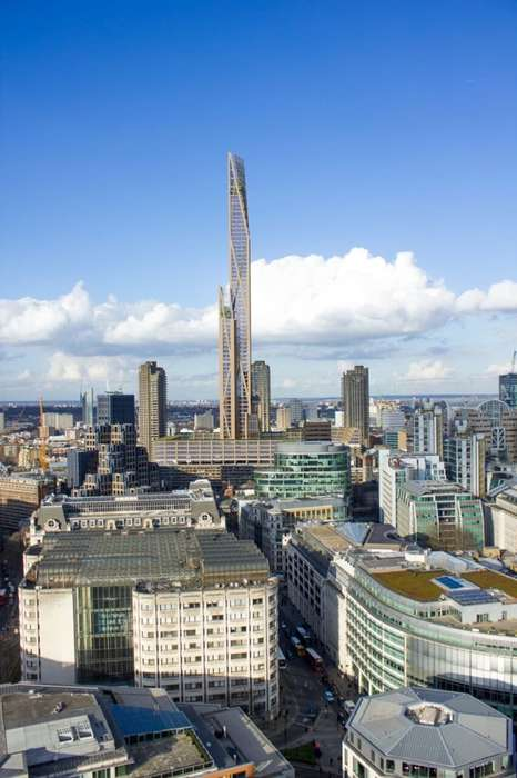 Sky-High Wooden Buildings - This New Tower Has Been Designed for London's Barbican Estate