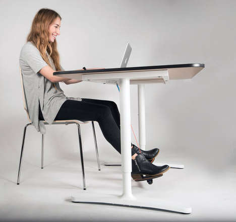 Desk-Friendly Exercise Kits - The 'Hovr' Device Forces Users to Unconsciously Exercise at Work
