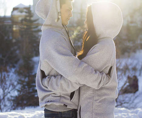 Couple-Oriented Classic Hoodies - The Together Wear 'Hugging Hoodie' Encourages Lots of Hugs