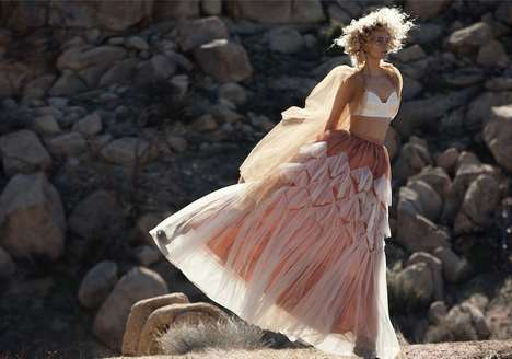 Dreamy Lingerie Photoshoots - Myself Magazine Imagines Spring Lingerie as Outwear in Desert Shoot