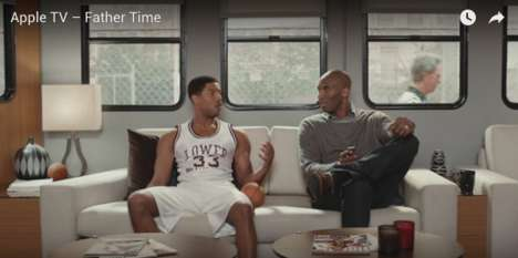 Fictional Biopic Ads - The Apple TV Father Time Campaign Stars Michael B. Jordan and Kobe Bryant