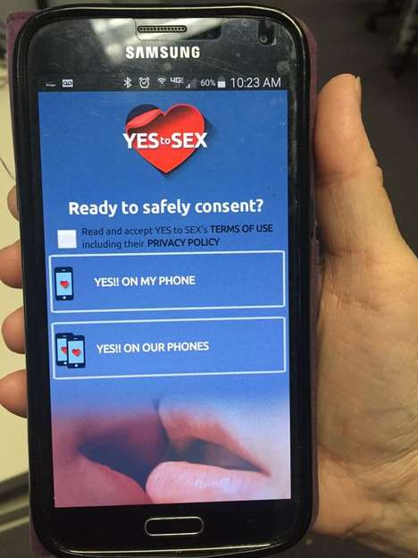Intimacy Consent Apps - The 'Yes to Sex' App Lets Teenagers Formalize Sexual Consent