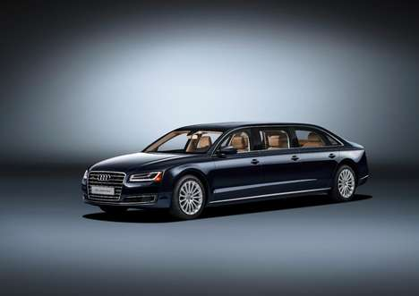 Luxurious Extended Sedans - This Audi A8 L is a Six-Door Long Vehicle Outfitted with Ample Comforts