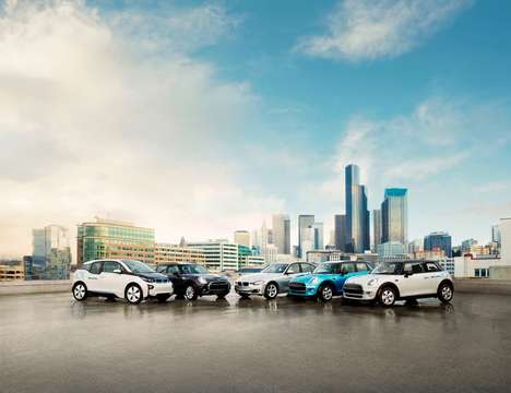 Flexible Car-Sharing Services - BMW's ReachNow Service Includes a Range of Additional Features