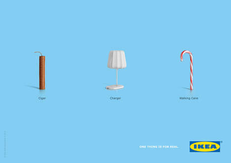 Unconventional Object Ads - These Print Ads Promote the IKEA Charging Furniture Pieces