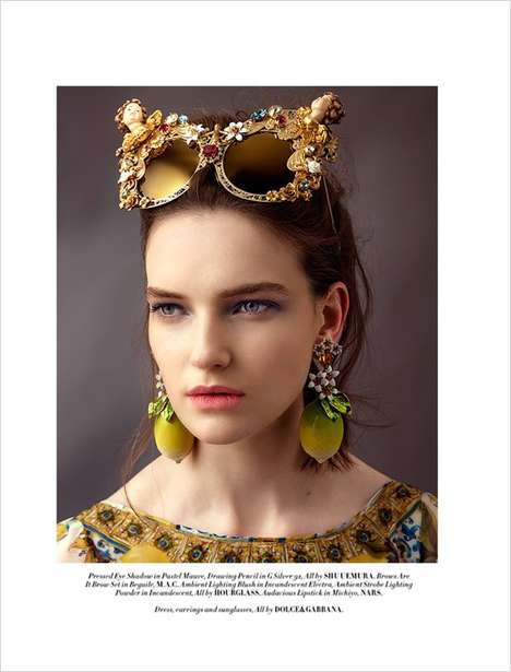 Luxe Accessory Editorials - L'Officiel Malaysia's 'Heads Up!' Series Highlights Eccentric Fashion