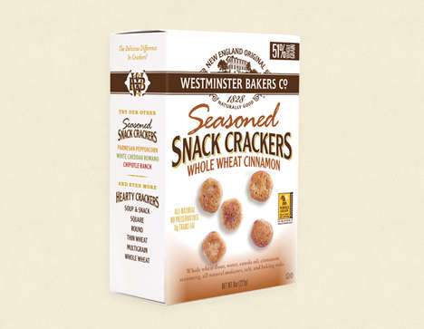 Cinnamon Snack Crackers - These Cinnamon-Seasoned Crackers Are Made With Winter Wheat