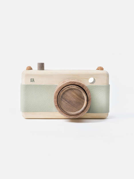 Wooden Camera Toys - These Retro and Handmade Toys Encourage Imaginative Play