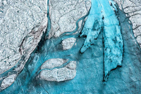 Frozen Landscape Photography - Daniel Beltrá's Imagery Explores Global Warming and Climate Change