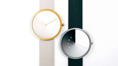 Hidden Time Watches - Jiwoong Jung Designs a Chronograph That Tells Time with Fading Color Gradient