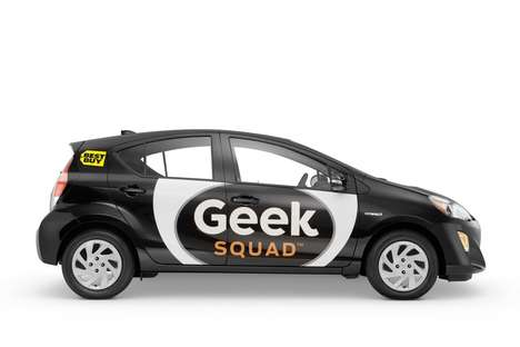 Eco-Friendly Tech Support Vehicles - The Best Buy Geek Squad will Now Drive the Toyota Prius c
