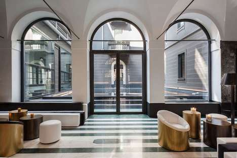 Art Deco Italian Hotels - Milan's Hotel Senato Boasts Opulent and Gilded Design Accents