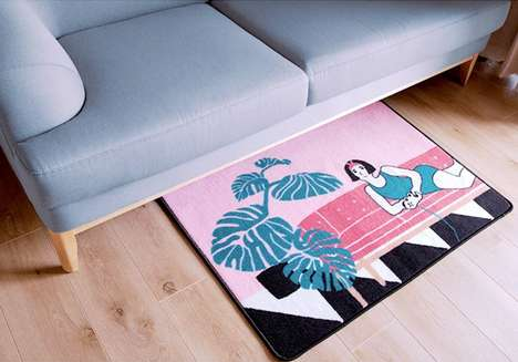 Graphic Doormat Decor - INU INU's Doormat Collection is Fashionable and Pop Art-Themed