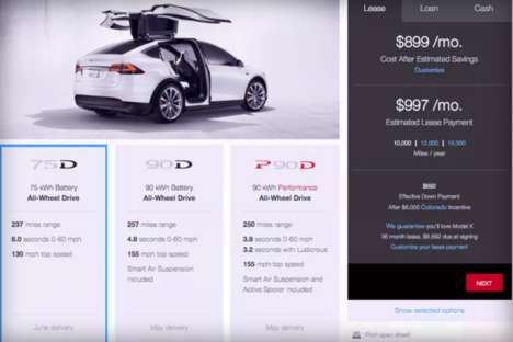 Customizable Car Platforms - The Model X Design Studio Allows Users to Customize Their Tesla Vehicle