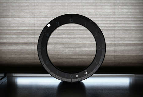 Hollow LED Chronographs - The Only Clock Offers a Modern Interpretation of an Analog Wall Clock