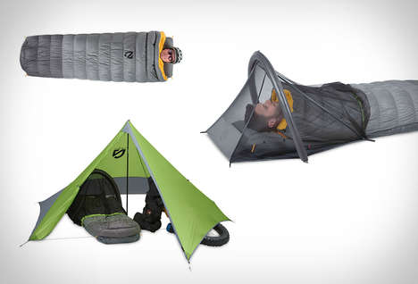 Cyclist Camping Kits - The Nemo Bike-Packing Kit Offers a Compact Tent and Sleeper for Bikers