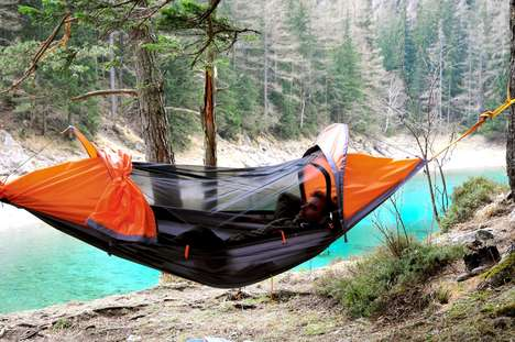Multipurpose Camp Tents - The 'flying tent' Features a Four-in-One Design for Comfy Camping