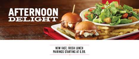Speedy Lunch Menus - The New TGI Fridays Menu is Designed for Those Who are Short on Time
