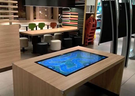 Touchscreen Computer Coffee Tables - The HUMElab 'TABATA' Touch Table Features WiFi and Windows 10