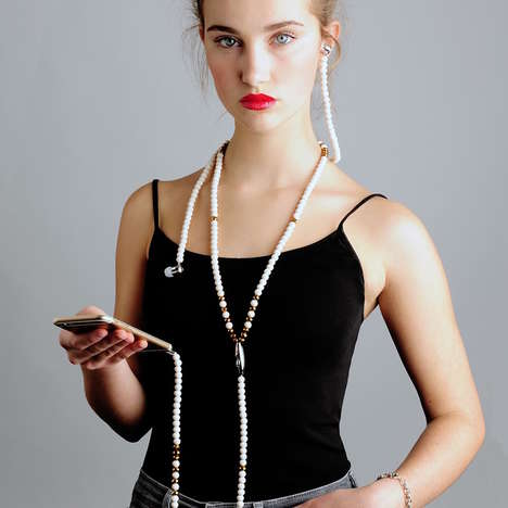 Costume Jewelry Headphones - The Jaxmotech 'ONE' Fashion Headset Comes in Various Colors and Styles