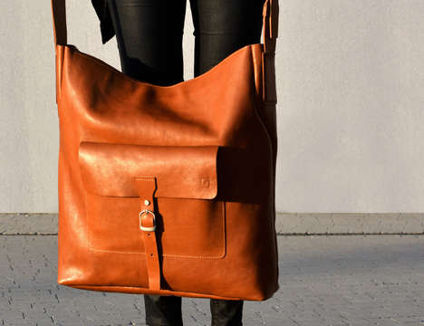 Weekender Oversized Purses - The Cinnamon Cocoon Jumbo Carry-All is Ready for Shopping or a Trip