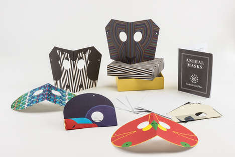 Animal Mask Notecards - This Playful Animal Stationery Doubles Masks That Can Be Worn