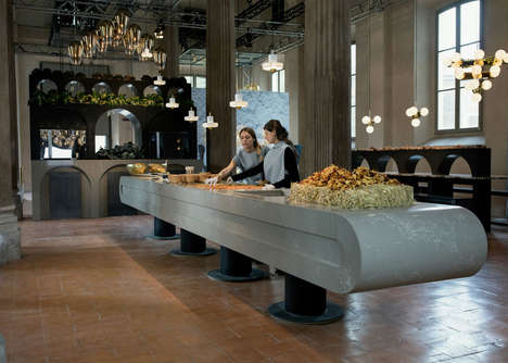 Experimential Kitchen Restaurants - Artful Surfaces at 'The Restaurant' Explore Innovative Cooking