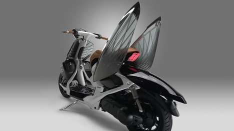 Winged Concept Scooters - The Yamaha 04Gen Concept Scooter Features Innovative Design