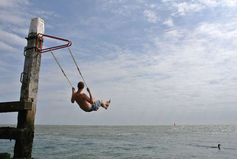 Impressive Portable Swings - The Weltevree Swing Makes Installing a Swing Simple