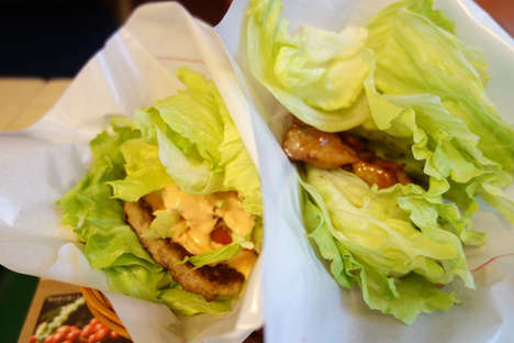 Lettuce Burger Buns - The MOS Yasai Burger is Served Inside of a Leafy Lettuce Bun