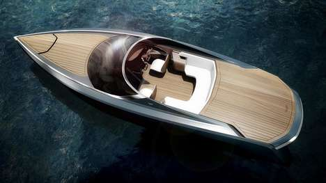 Automotive Collaboration Yachts - The Aston Martin AM37 Power Boat Brings the Brand to the High Seas