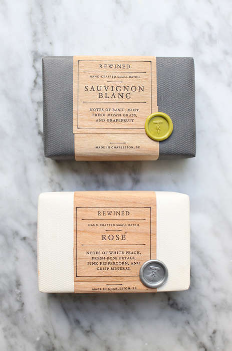 Wine-Inspired Soaps - 'Rewined Soap' Makes Premium Soap Styled After Champagne and Rosé