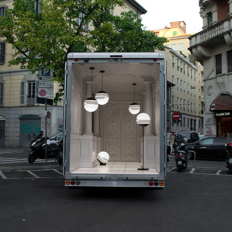 Delivery Van Showrooms - The Salone Del Automobile Installation is Housed Inside a Delivery Van