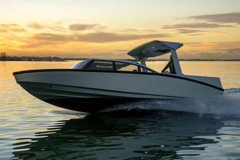Luxe Limousine Boats - The Limousine Tender By Denis Popov Combines Road and Water Opulence